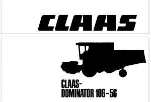 Claas Dominator 56-66-76-86-96-106 Radionički priručnik