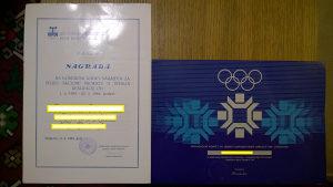Olimpijske diplome ZOI - Sarajevo 84