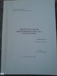 DRUŠTVENA MISAO BOSANSKIH FRANJEVACA