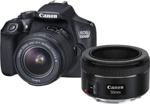 Canon 1300D EFSS18-55DC+EF 50 1.8 S