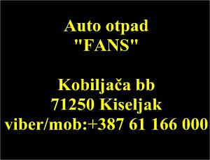 """POLOVNI AUTO DIJELOVI (AUTO OTPAD """"FANS"""")"""