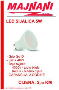 LED SIJALICA 5W, GU10