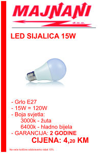 LED SIJALICA 15W, E27