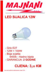 LED SIJALICA 12W, E27