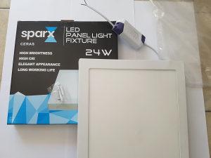 24W = 200W LED PANEL KVADRATNI 4200K PRIRODNA BIJELA