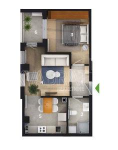 Dvosoban stan - 41,72 m2 - Obilićevo\Mejdan