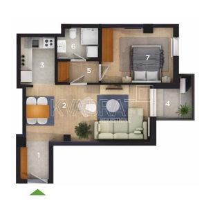 Dvosoban stan - 46,63 m2 - Obilićevo\Mejdan