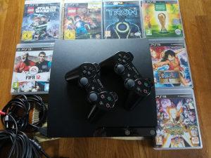 Playstation 3 + 7 igrica i 2 dzojstika
