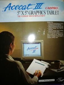 """ACECAT III 5"""" X 5"""" GRAPHICS TABLET Windows 95/98 & NT"""