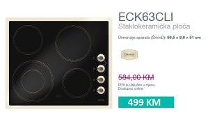 Staklokeramička ploča ECK63CLI Gorenje retro