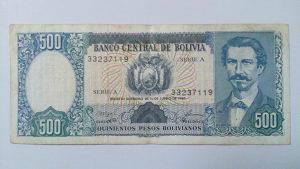 Novčanice Bolivija 1981.