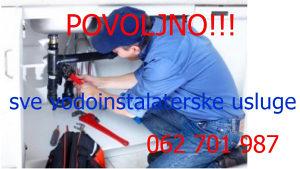 Vodoinstalater usluge 062 701 987