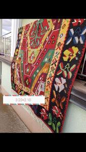Rucno tkani vuneni ćilim/staze/tepih