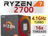 AMD Ryzen 7 AM4 2700 16x3.2-4.1GHz