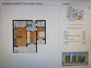 Stan u Mostaru, Rudnik, zgrada Dva Cedra