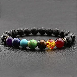 Narukvica cakre lava kamen prirodni kristali joga