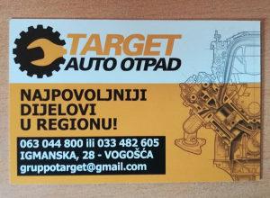 """Auto Otpad """"Target"""" Dijelovi Vogosca 063/044-800"""
