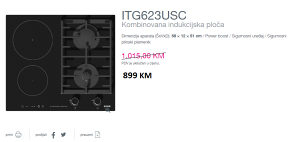 GORENJE kombinovana indukcijska ploča ITG623USC