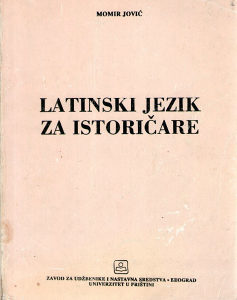 Momir Jović - Latinski jezik za istoričare