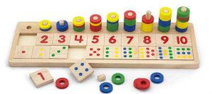 Igracka Drvena ploča s brojevima