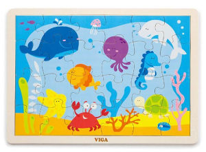Igračka Drvene puzzle 24 kom - ocean