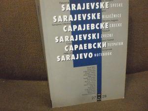 Sarajevske sveske - časopis broj: 27-28/2010. godina
