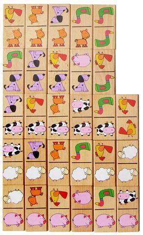 Igračka Drveni domino - životinje