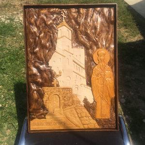 Manastir Ostrog Vasilije Ostroski ikona duborez