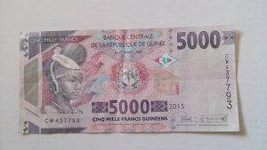 Novčanice Gvineja 2015.