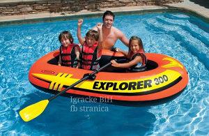 INTEX EXPLORER 300 gumeni čamac  vesla i pumpa NOVO!