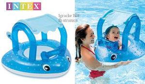 Šlauf plutko za bebe sa tendoom NOVO kupanje bazen