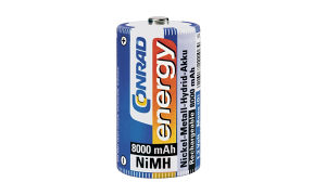250156 NiMH mono akumulatori Conrad energy, 8000 mAh