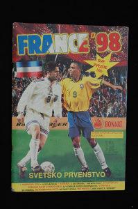 Album za sličice France '98 (49% popunjenost / Bonart)