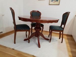 Stilski namještaj, komplet stolovi, 6 stolica, komoda
