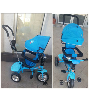 Tricikl guralica triciklo djecije PLAVO rotirajuci