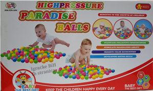Loptice plastične za igraonicu djecije 100kom. NOVO