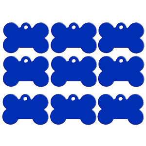 Pločica, privjezak,ogrlica psa-mačku plava