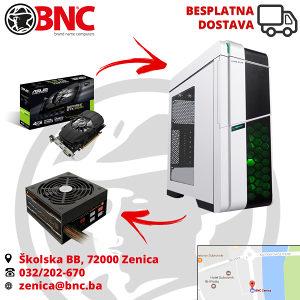 Racunar RAMPAGE TITAN GAMING i5-4570/16/1050Ti