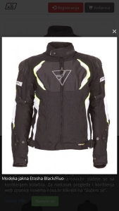 Modeka jakna etosha black/fluo
