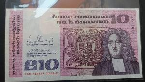 Irska 10 funti 1987