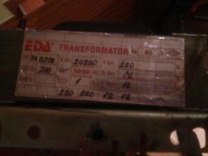 Transformatori / Trafoi