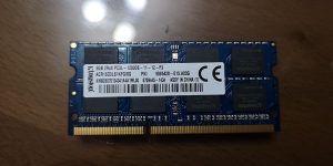 RAM 8Gb DDR3 1600 PC3L 12800 za laptop