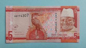 Gambia 5 dalasis 2010. UNC