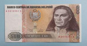Peru 500 intis 1987. UNC