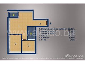 NOVOGRADNJA manji trosoban stan površine 58,27m², Tuzla