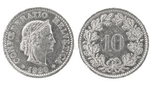 10 Rappen 1930. 1944. 1952. 1957.
