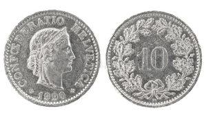 10 Rappen 1928. 1944. 1970. 1982.