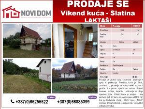 PRODAJE SE - Vikend kuća - Slatina - Laktaši