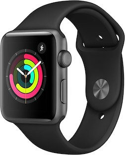 APPLE Watch Series 3, 42 mm, GPS, Gray / Black