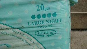 Pelene za odrasle75kg 20 kom